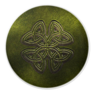 Green Celtic Door or Drawer Knob
