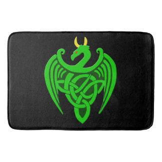 Green Celtic Dragon Bath Mat