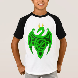 Green Celtic Dragon Child T Shirt
