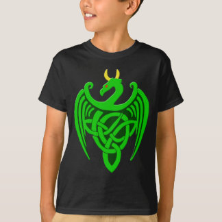 Green Celtic Dragon Child T Shirt