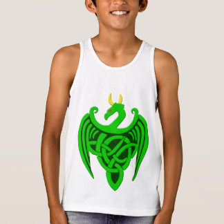 Green Celtic Dragon Child Tank Top