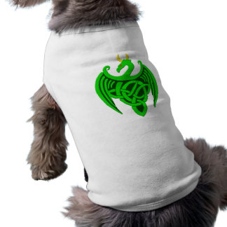 Green Celtic Dragon Dog Shirt