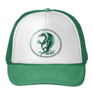 Green Celtic Dragon Mesh Hat