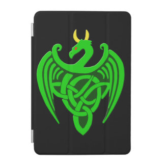 Green Celtic Dragon iPad Mini Cover