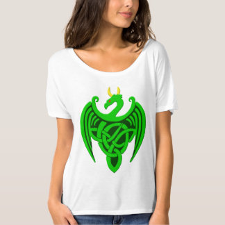 Green Celtic Dragon T Shirt