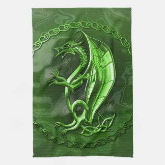 Green Celtic Dragon Towel