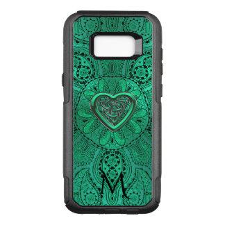 Green Celtic Heart Knot Mandala Monogram OtterBox Commuter Samsung Galaxy S8+ Case