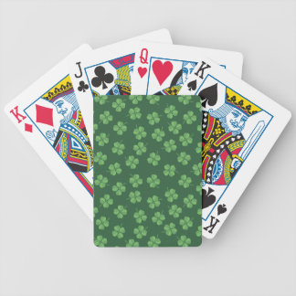Green Celtic Irish Four Leafed Clovers St. Patrick Bicycle Playing Cards