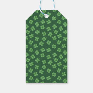 Green Celtic Irish Four Leafed Clovers St. Patrick Gift Tags