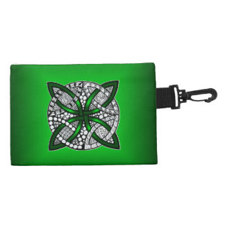 Green Celtic Knot Accessories Bag