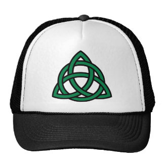 Green celtic knot hats