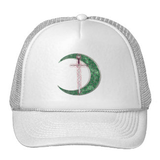 Green Celtic Moon Trucker Hat