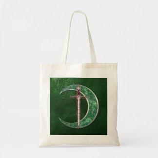 Green Celtic Moon Bag