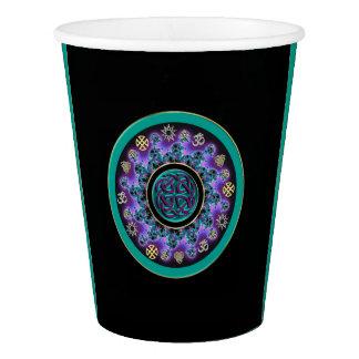 Green Celtic Mystical Mandala Paper Cup