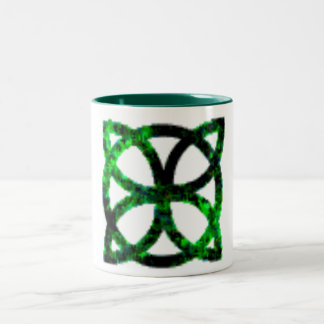 Green Celtic Protection Symbol Mug