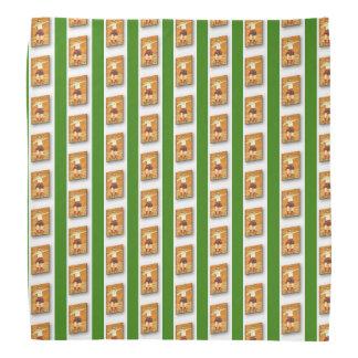 Green - Celtic Stone Thrower Lapel Handkerchief Bandana
