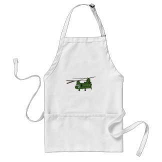 Green CH-47 Chinook Military Helicopter Aprons