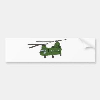 Green CH-47 Chinook Military Helicopter Bumper Sticker