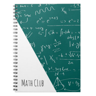 Green Chalkboard Filled With Math Symbols Notebook