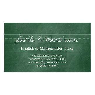 Green Chalkboard Teacher Tutor Pack Of Standard Business Cards