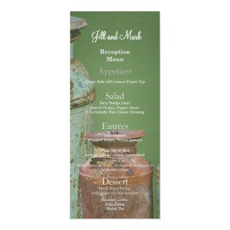 Green Chalkboard Vintage Metal Milk Jugs Wedding 10 Cm X 24 Cm Invitation Card