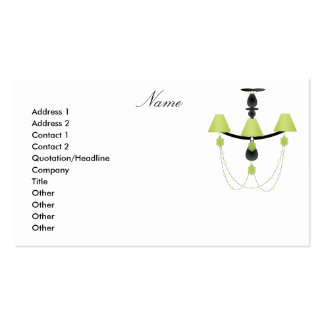 Green Chandelier Pack Of Standard Business Cards