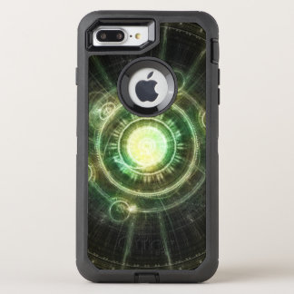 Green Chaos Clock, Steampunk Alchemy Fractal Manda OtterBox Defender iPhone 8 Plus/7 Plus Case