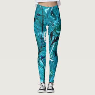 Green Chaos Leggings