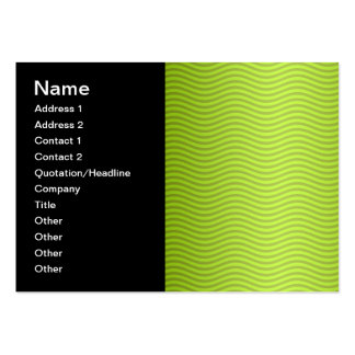 Green Chartreuse Stripes Pattern Business Card Template
