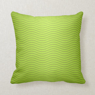 Green Chartreuse Stripes Pattern Cushion