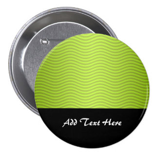 Green Chartreuse Stripes Pattern Pinback Buttons