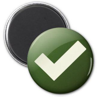 Green Check Mark Write Symbol Magnet