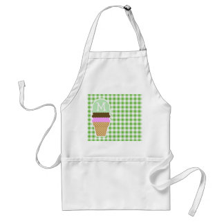 Green Checkered; Gingham; Ice Cream Cone Aprons
