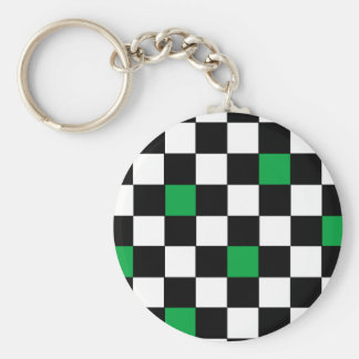 Green Checkers 2 Keychains