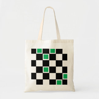 Green Checkers Budget Tote Bag