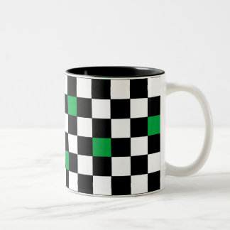 Green Checkers Mugs