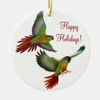 Green Cheek Conure Parrots Ornament