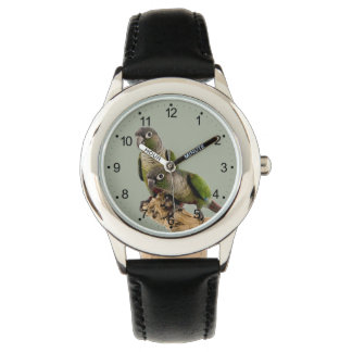 Green Cheek Conure Wrist Watch ( Many Colors )