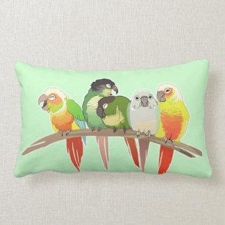 Green Cheek Conures Lumbar Cushion
