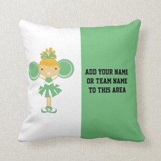 Green Cheerleading American MOJO Pillow