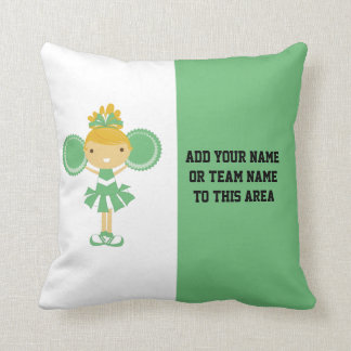 Green Cheerleading American MOJO Pillow Cushion