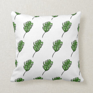 Green Cheese Indoor Plant Floral Modern Pillow
