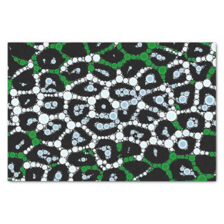 Green Cheetah Circle Abstract Tissue Paper