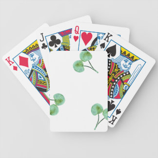 Green Cherry Pattern Bicycle Playing Cards