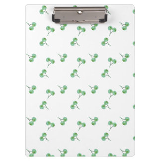 Green Cherry Pattern Clipboard