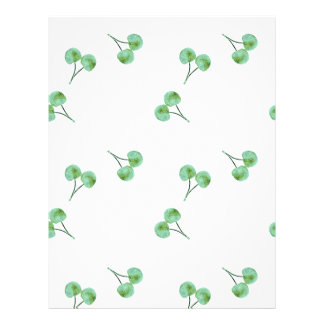 Green Cherry Pattern Flyer