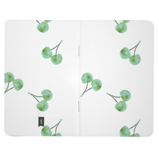 Green Cherry Pattern Journal