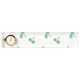 Green Cherry Pattern Name Plate