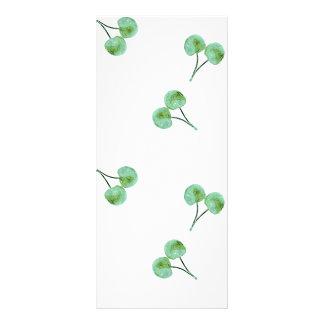 Green Cherry Pattern Rack Card
