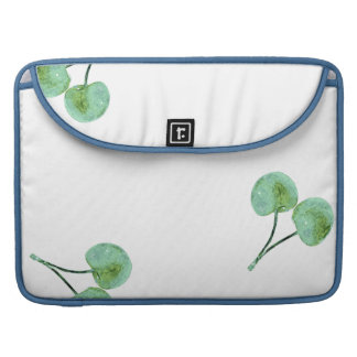 Green Cherry Pattern Sleeve For MacBooks